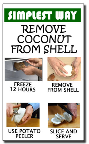Step by Step to Open a Coconut